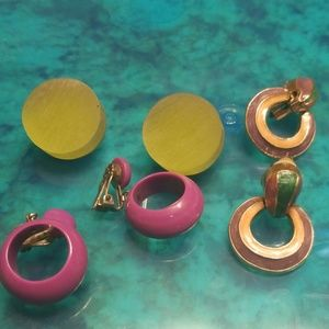 Vintage 60's and 70's earrings RARE PM 652